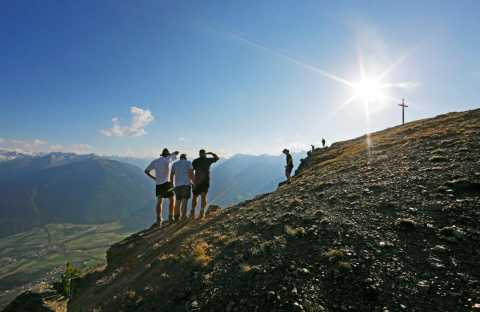 Hiking in the Vinschgau region of South Tyrol